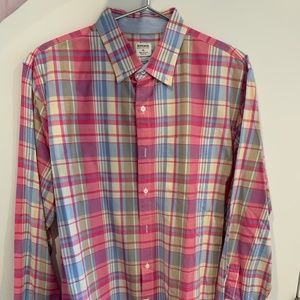 Bonobos button down: Blue / Pink / Yellow Plaid XL